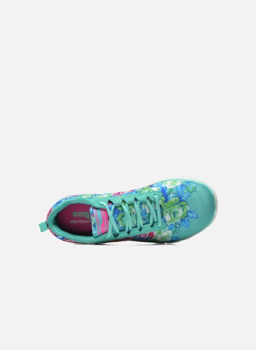 Zapatillas de deporte Skechers Flex Appeal- Wildflowers 12448 Verde vista lateral izquierda