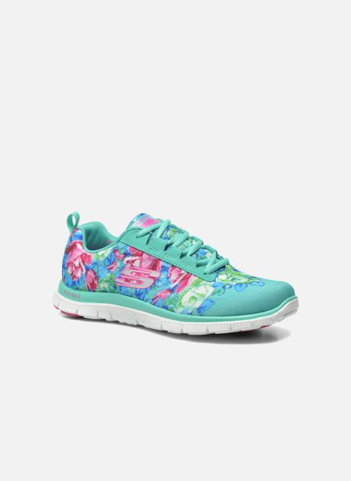 Sportschoenen Skechers Flex Appeal- Wildflowers 12448 Groen detail