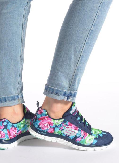 Scarpe sportive Skechers Flex Appeal- Wildflowers 12448 Rosa immagine dal basso