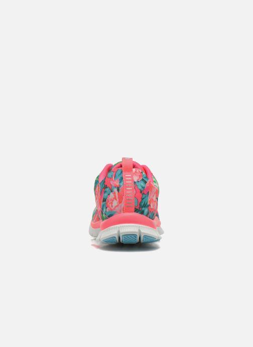 Zapatillas de deporte Skechers Flex Appeal- Wildflowers 12448 Rosa vista lateral derecha