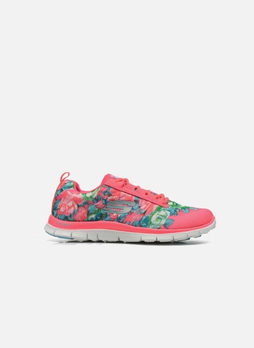 Sportschoenen Skechers Flex Appeal- Wildflowers 12448 Roze achterkant