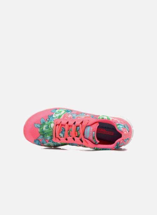Zapatillas de deporte Skechers Flex Appeal- Wildflowers 12448 Rosa vista lateral izquierda