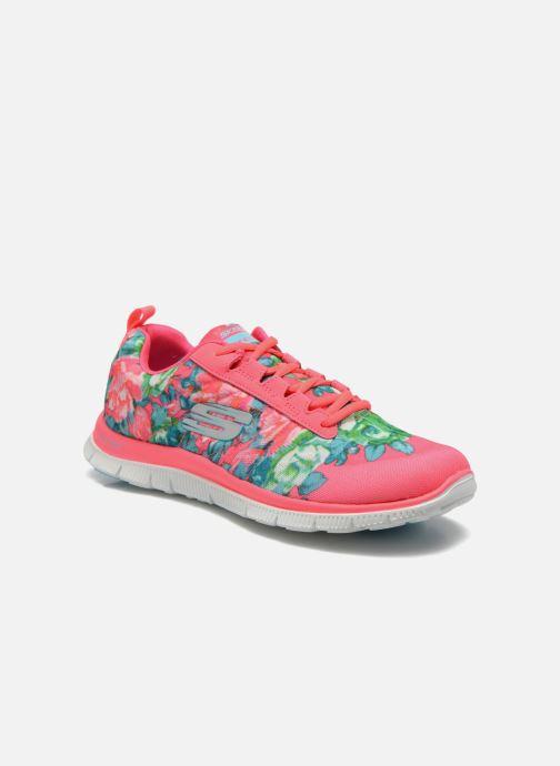 Zapatillas de deporte Skechers Flex Appeal- Wildflowers 12448 Rosa vista de detalle / par
