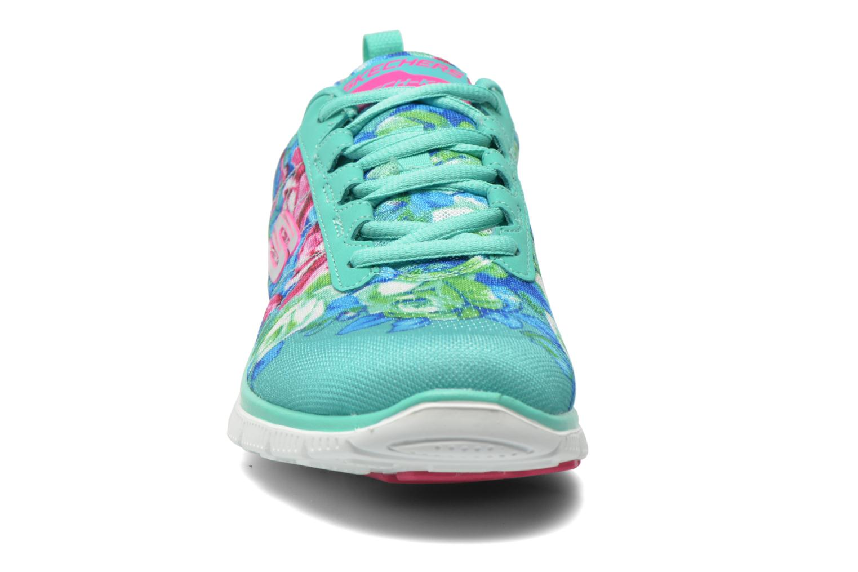 Chaussures de sport Skechers Flex Appeal- Wildflowers 12448 Vert vue portées chaussures