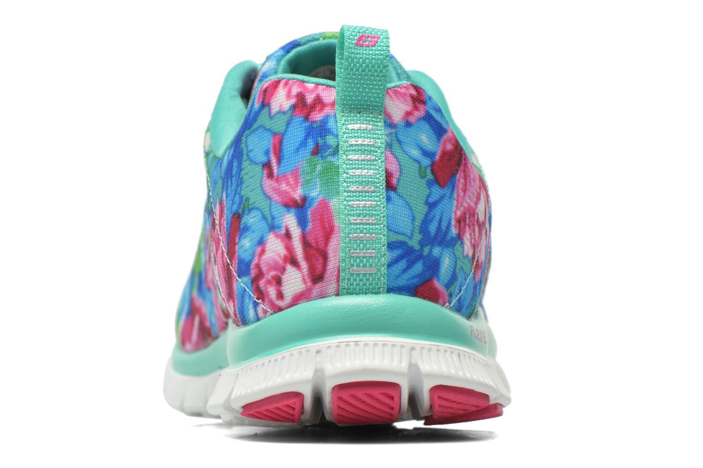 Chaussures de sport Skechers Flex Appeal- Wildflowers 12448 Vert vue droite