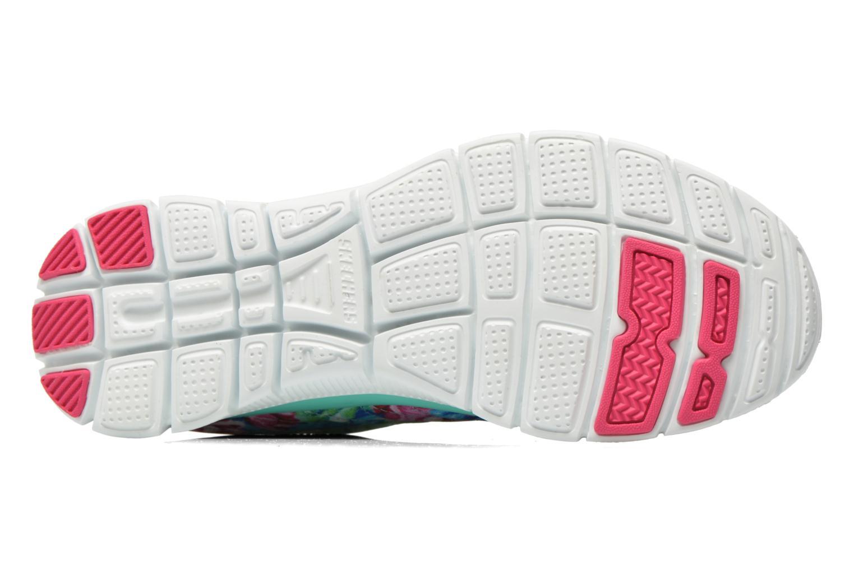 Chaussures de sport Skechers Flex Appeal- Wildflowers 12448 Vert vue haut