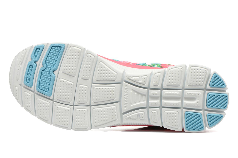Chaussures de sport Skechers Flex Appeal- Wildflowers 12448 Rose vue haut