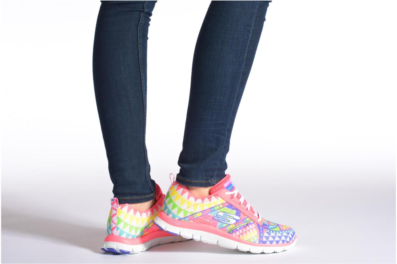 Chaussures de sport Skechers Flex Appeal - Arrowhead 12449 Rose vue bas / vue portée sac