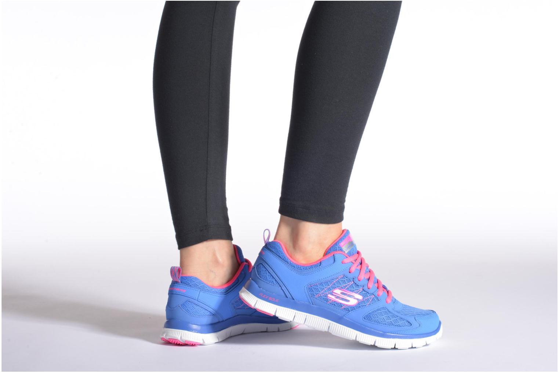 Chaussures de sport Skechers Flex Appeal 12452 Gris vue bas / vue portée sac