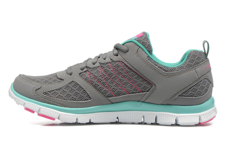Chaussures de sport Skechers Flex Appeal 12452 Gris vue face
