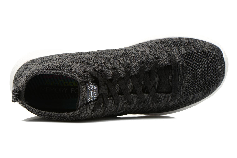 Chaussures de sport Skechers Burst- Divergent 12730 Noir vue gauche