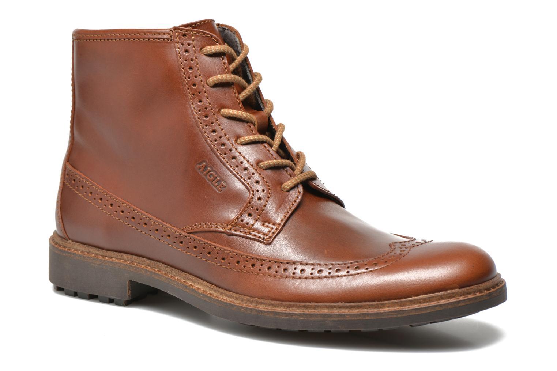 Bottines et boots Aigle Britten Brg Md Marron vue détail/paire