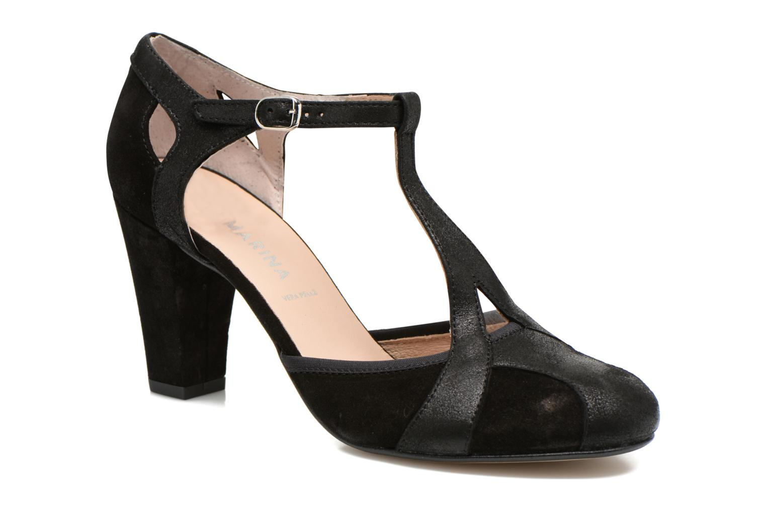 High heels San Marina Mocata Black detailed view/ Pair view