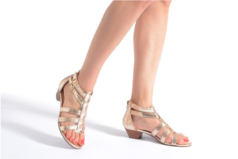 Sandales et nu-pieds San Marina Vurina/Met Or et bronze vue bas / vue portée sac