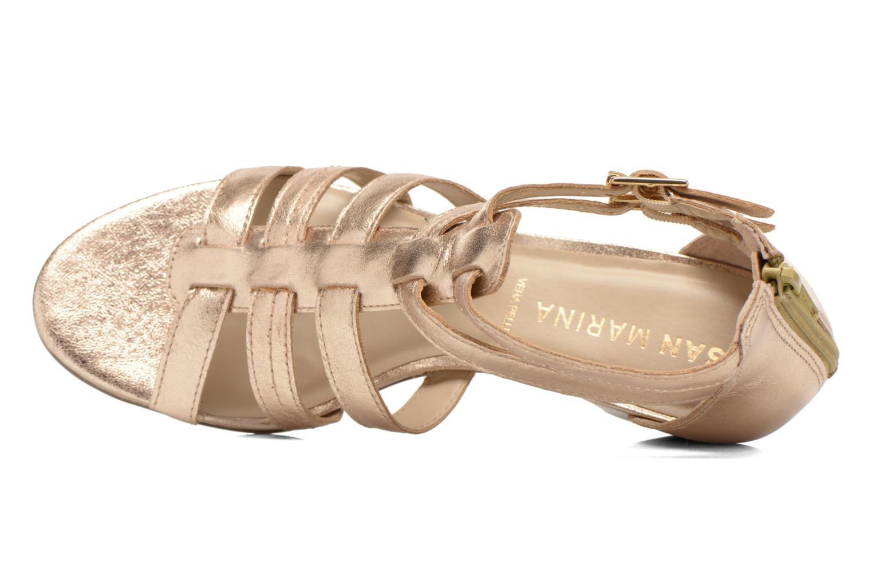 Sandales et nu-pieds San Marina Vurina/Met Or et bronze vue gauche