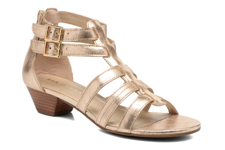 Sandales et nu-pieds San Marina Vurina/Met Or et bronze vue détail/paire