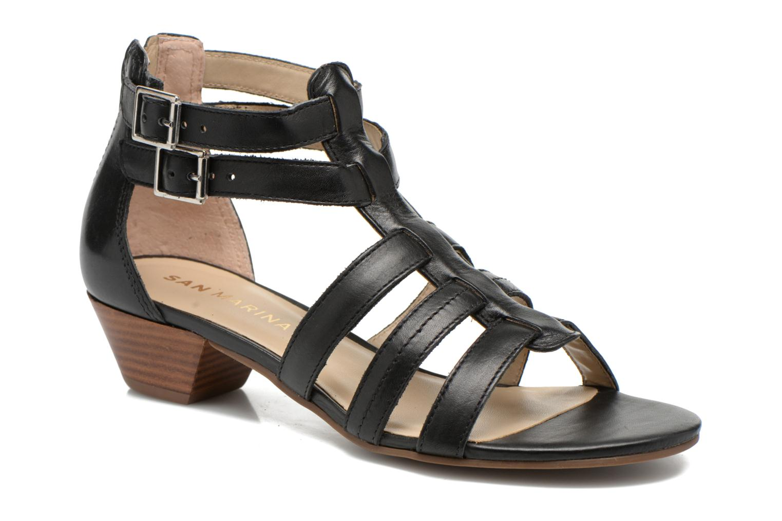 Sandals San Marina Vurina Black detailed view/ Pair view