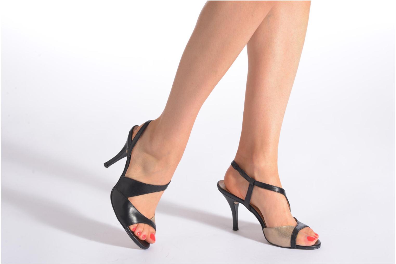 Sandales et nu-pieds San Marina Fovina Noir vue bas / vue portée sac