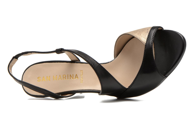 Sandales et nu-pieds San Marina Fovina Noir vue gauche