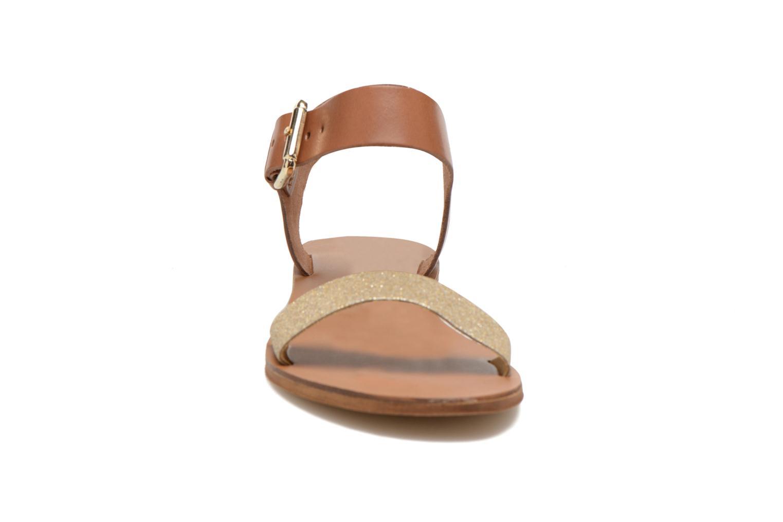 Sandals San Marina Delbana Bronze and Gold model view