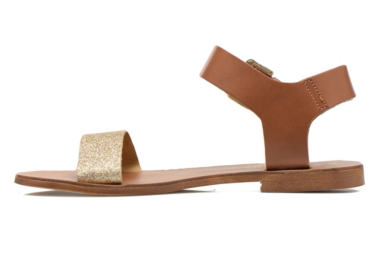 Sandals San Marina Delbana Bronze and Gold front view