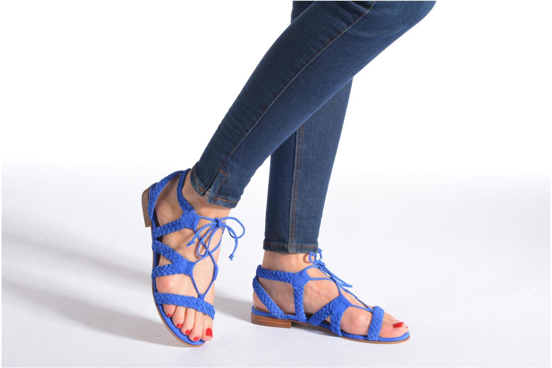 Sandalen San Marina Vesma/Nub blau ansicht von unten / tasche getragen