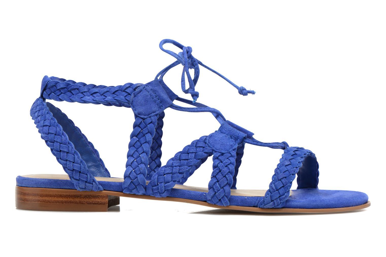 Sandalen San Marina Vesma/Nub blau ansicht von hinten
