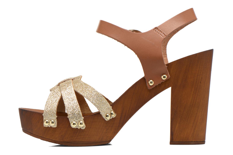 Sandalen San Marina Debani/Glit braun ansicht von vorne