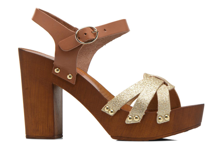 Sandalen San Marina Debani/Glit braun ansicht von hinten
