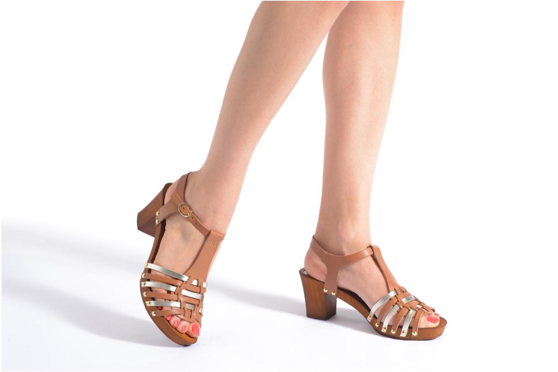 Sandales et nu-pieds San Marina Doctrine Multicolore vue bas / vue portée sac