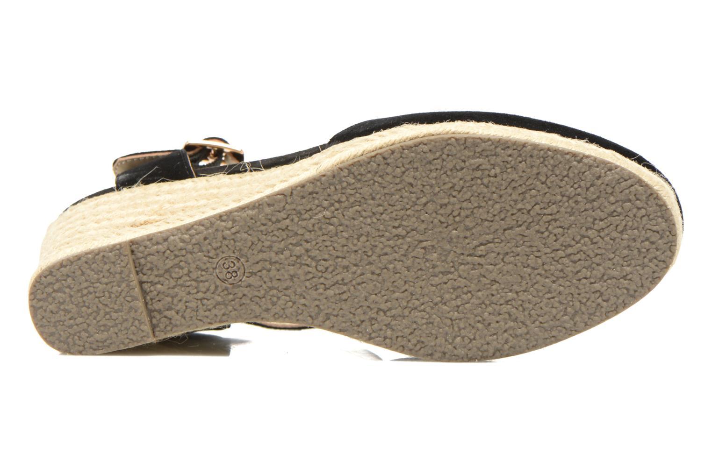 Sandales et nu-pieds San Marina Coquille Noir vue haut