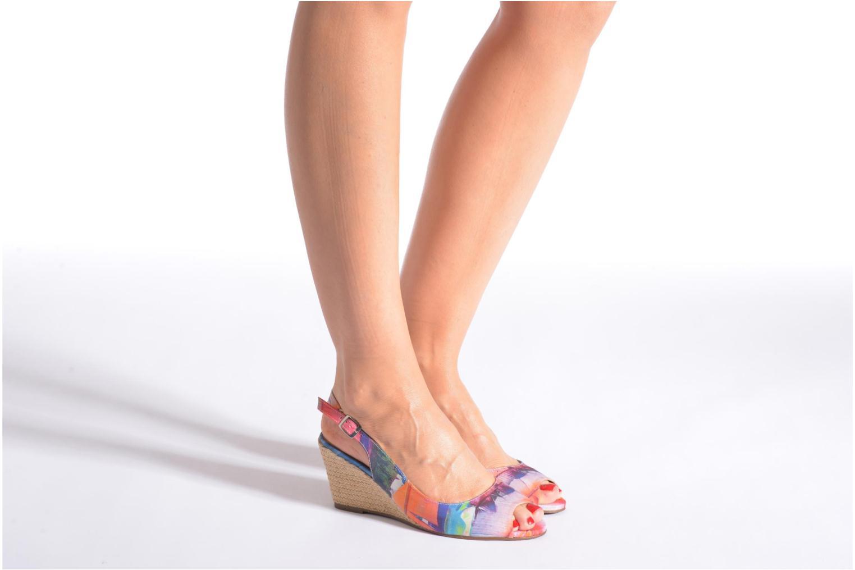 Sandales et nu-pieds San Marina Navaja/Tiss Multicolore vue bas / vue portée sac