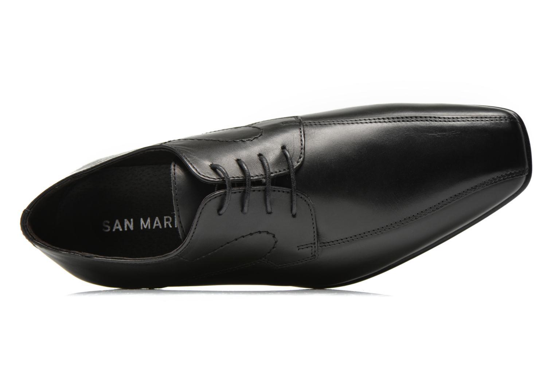 Chaussures à lacets San Marina Acero Noir vue gauche