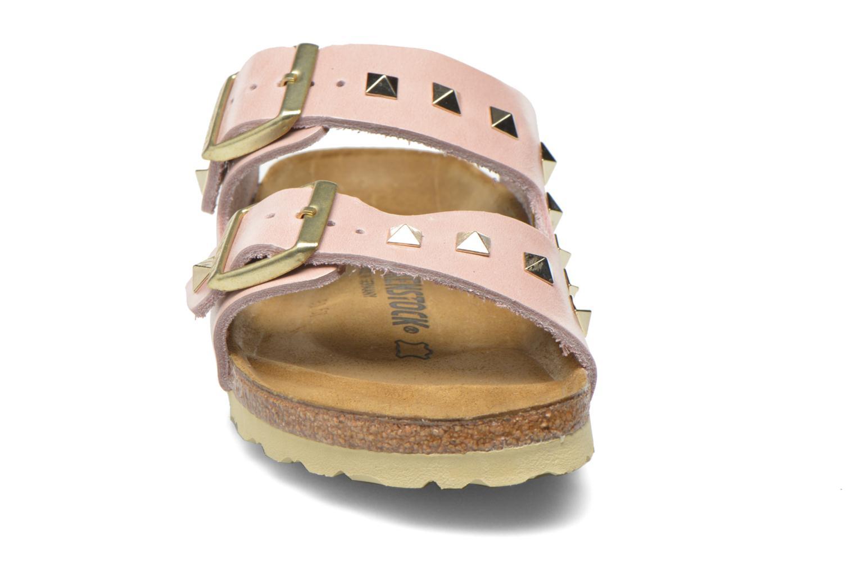 Clogs og træsko Birkenstock Arizona Cuir Studded W (Smal model) Pink se skoene på