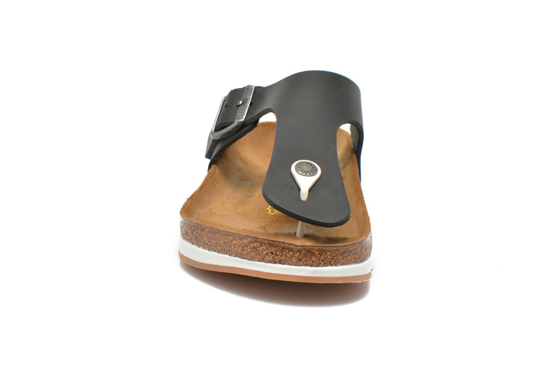 Tongs Birkenstock Ramses Cuir M Noir vue portées chaussures