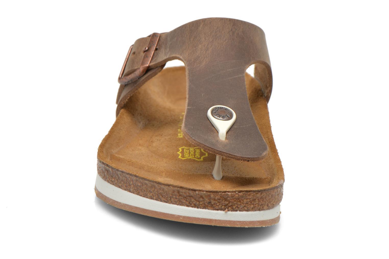 Tongs Birkenstock Ramses Cuir M Marron vue portées chaussures