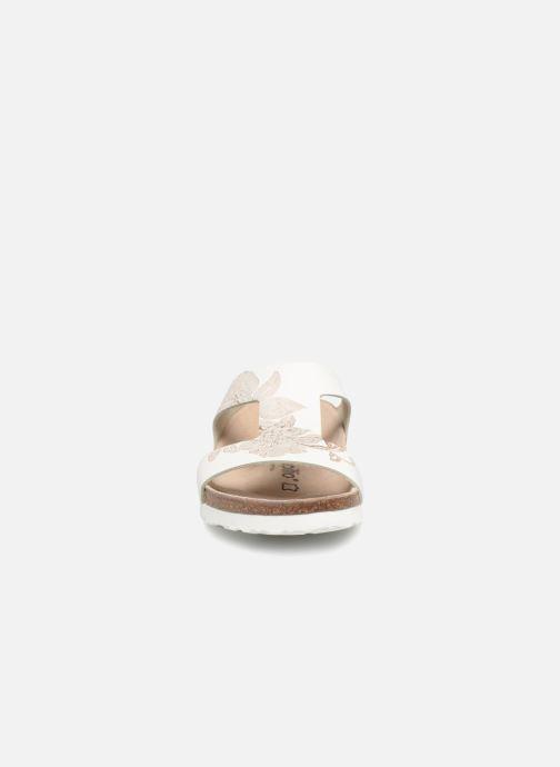 Mules et sabots Papillio Charlize Cuir W Blanc vue portées chaussures
