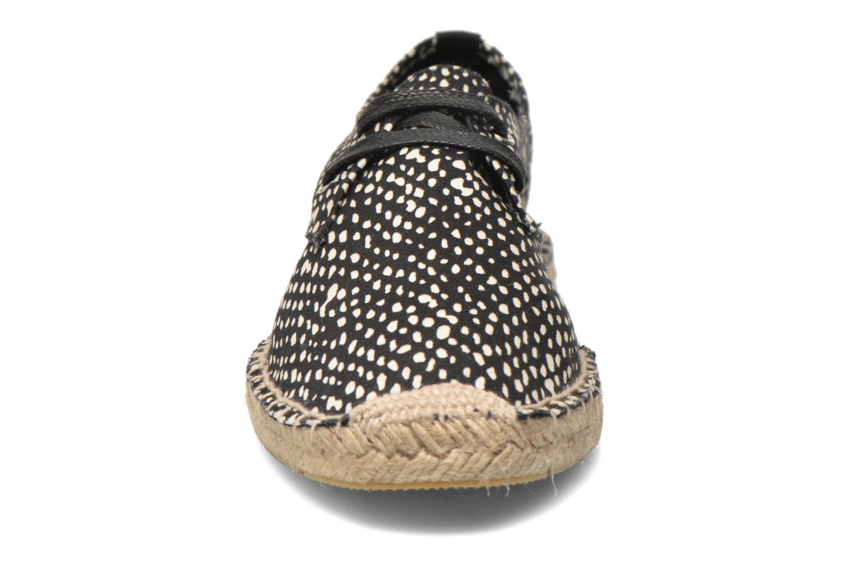 Espadrilles André Black Noir vue portées chaussures
