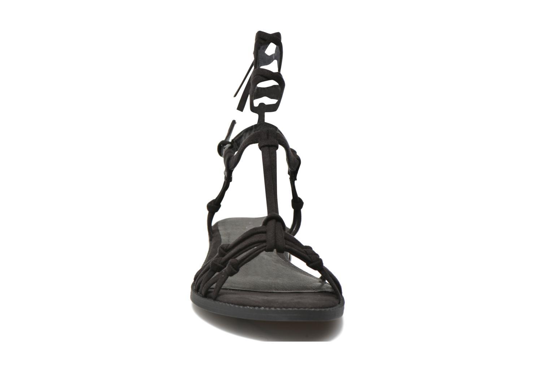 Sandales et nu-pieds André Bow Noir vue portées chaussures