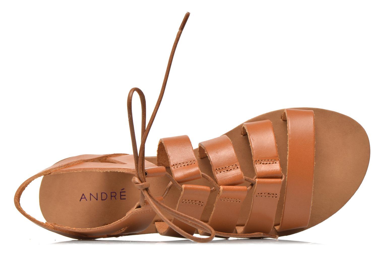 Sandales et nu-pieds André Fare Marron vue gauche