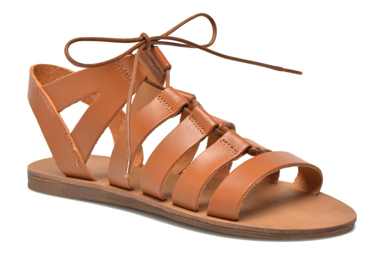 Sandales et nu-pieds André Fare Marron vue détail/paire
