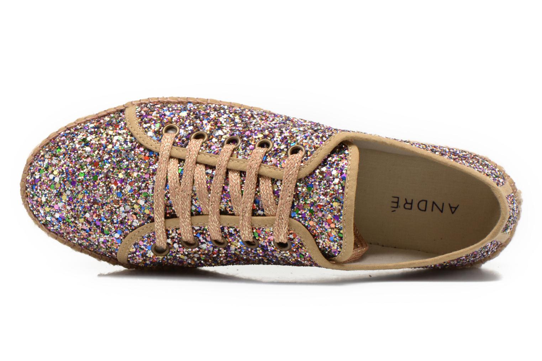 Chaussures à lacets André Friandise Multicolore vue gauche