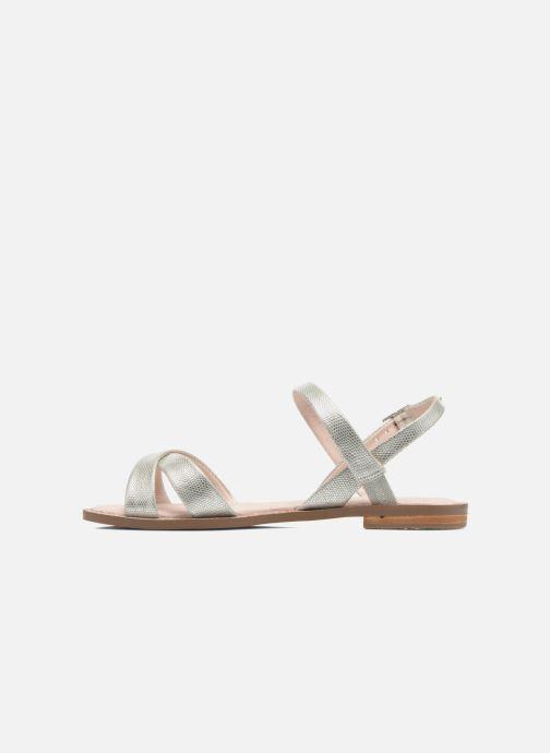 Sandales et nu-pieds André Jenny Argent vue face