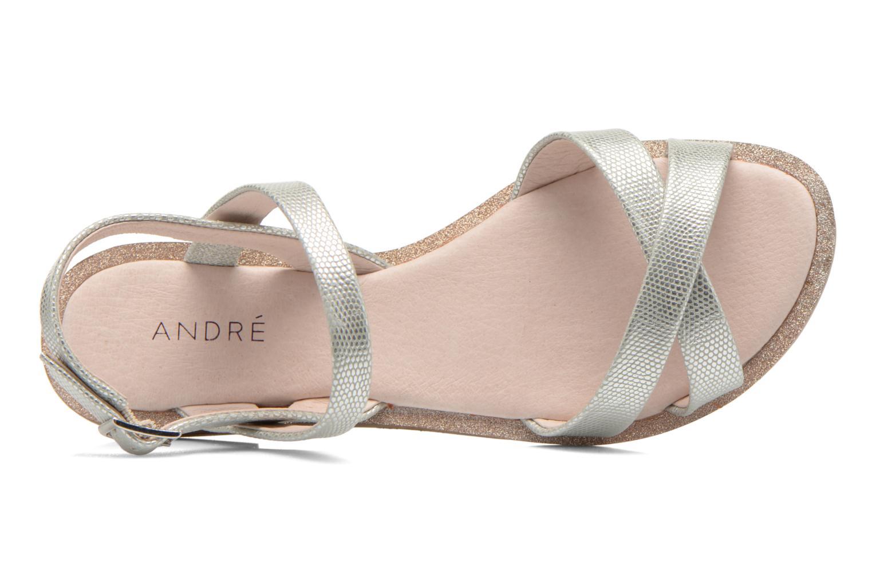 Sandales et nu-pieds André Jenny Argent vue gauche