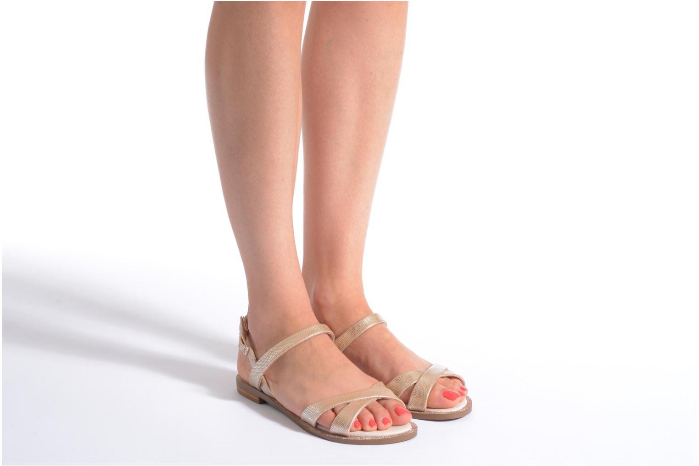 Sandales et nu-pieds André Jenny Or et bronze vue bas / vue portée sac
