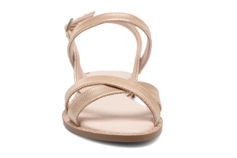 Sandales et nu-pieds André Jenny Or et bronze vue portées chaussures