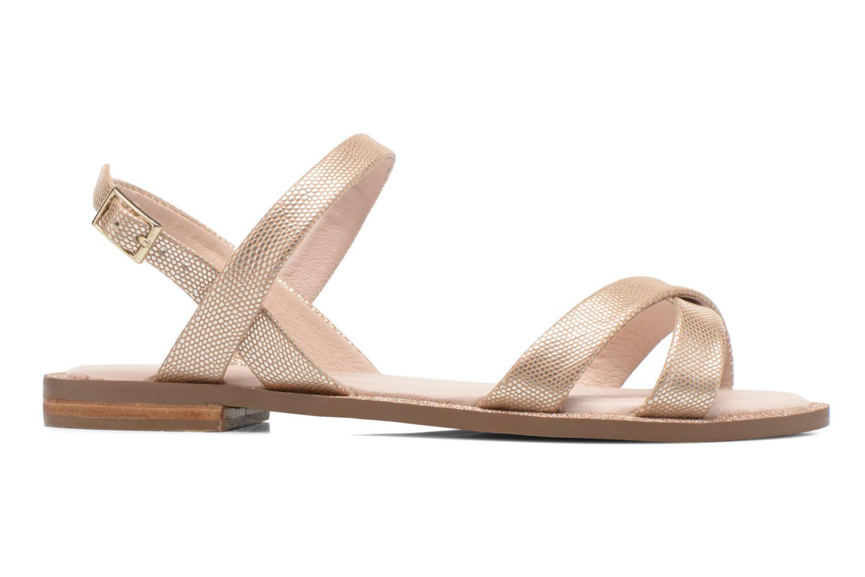 Sandales et nu-pieds André Jenny Or et bronze vue derrière
