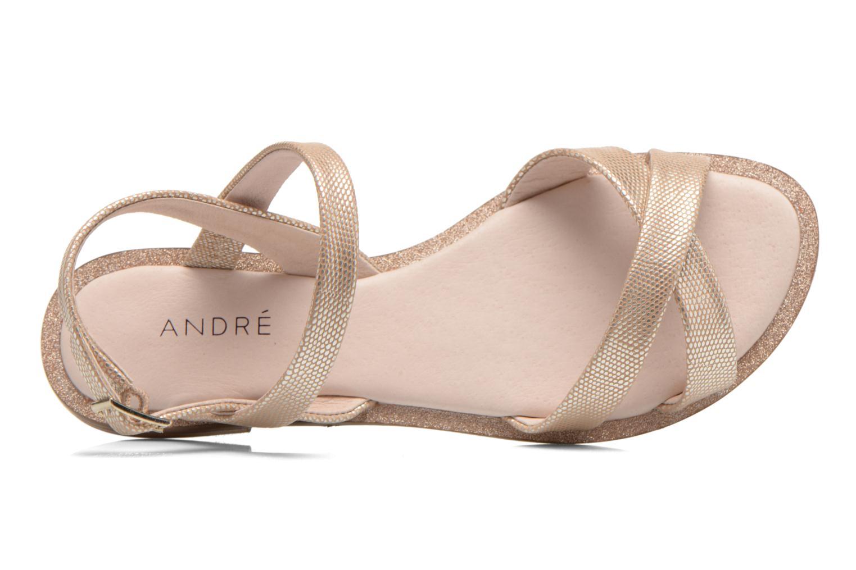 Sandales et nu-pieds André Jenny Or et bronze vue gauche