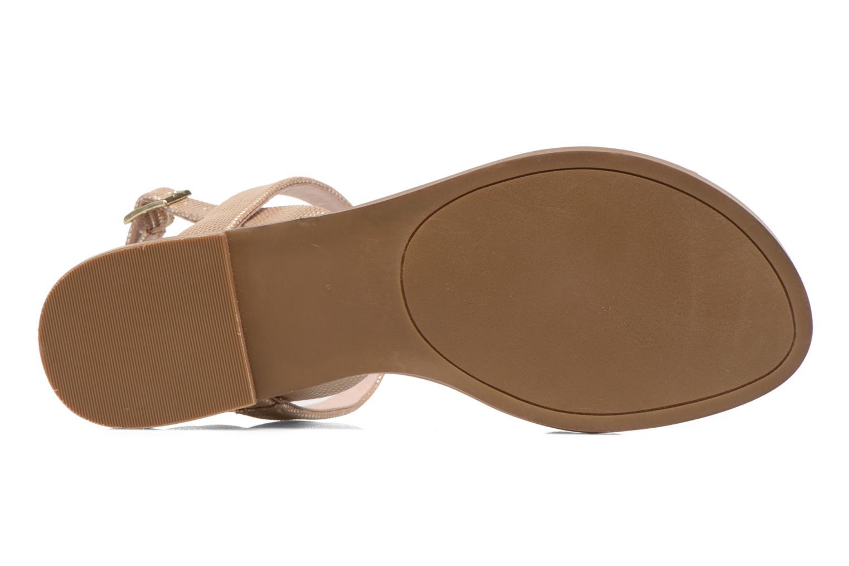 Sandales et nu-pieds André Jenny Or et bronze vue haut