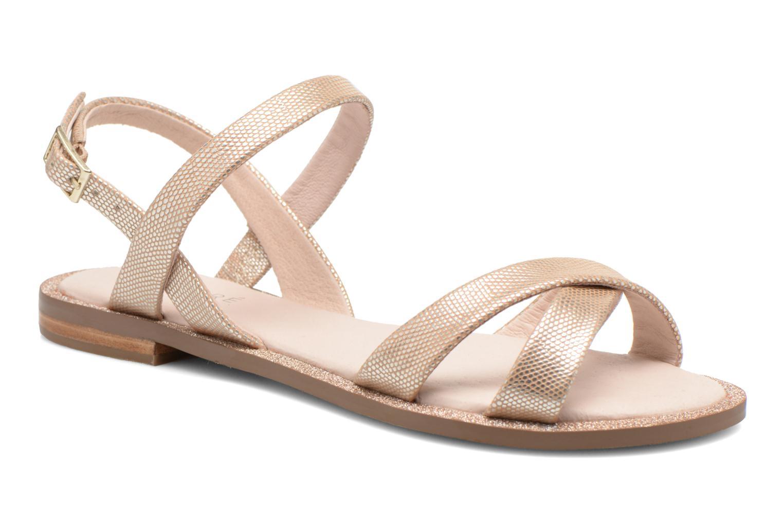 Sandales et nu-pieds André Jenny Or et bronze vue détail/paire